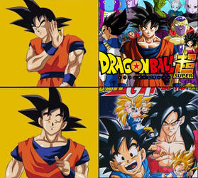 dragon ball gt vs dragon ball super (drake style) by AznavourRainCode2005