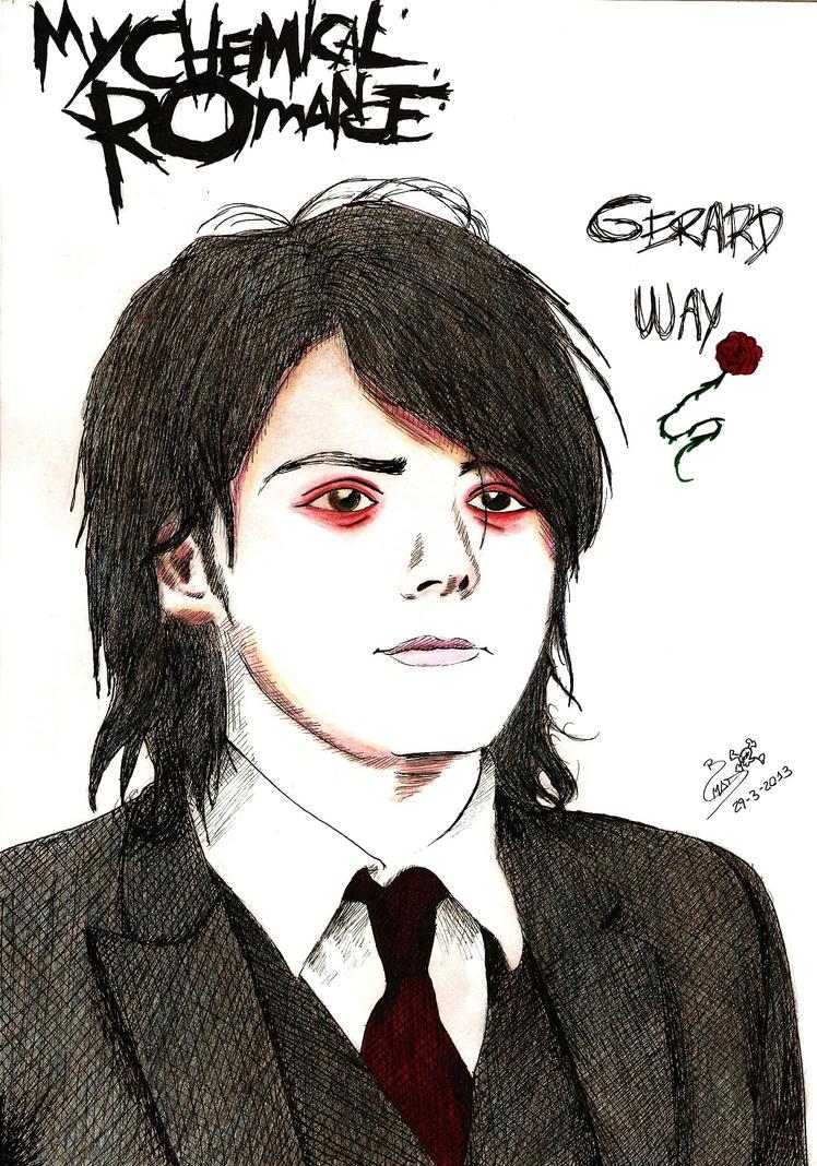 MCR Gerard Way portrait by Me by MiniAliceSuperstar