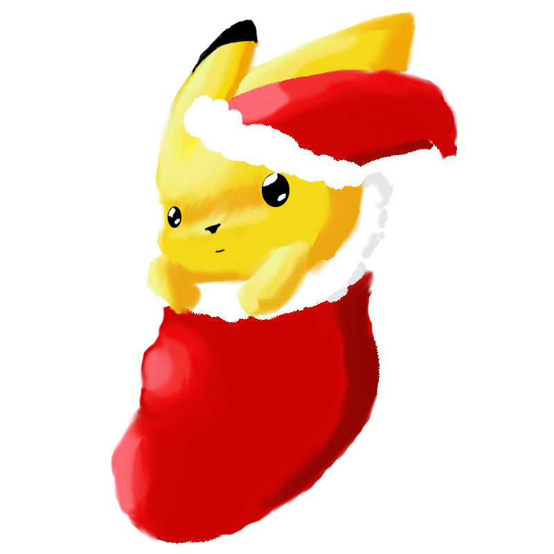Christmas Pikachu by ina0601