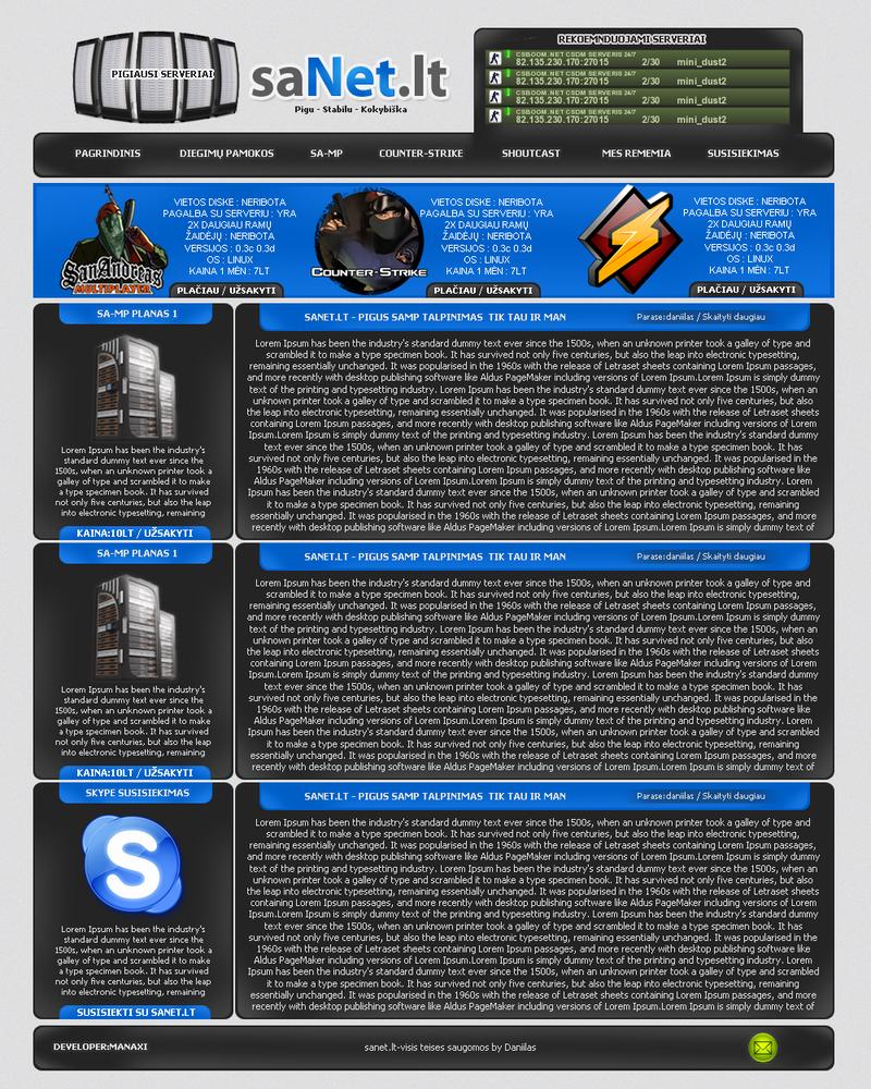 sanet lt hosting template by thanoneu on DeviantArt