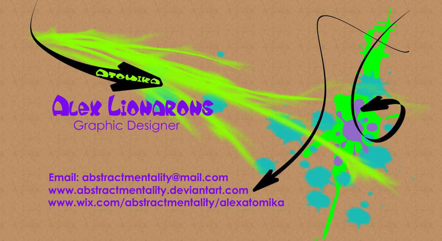 Atomika Business card by AbstractMentality