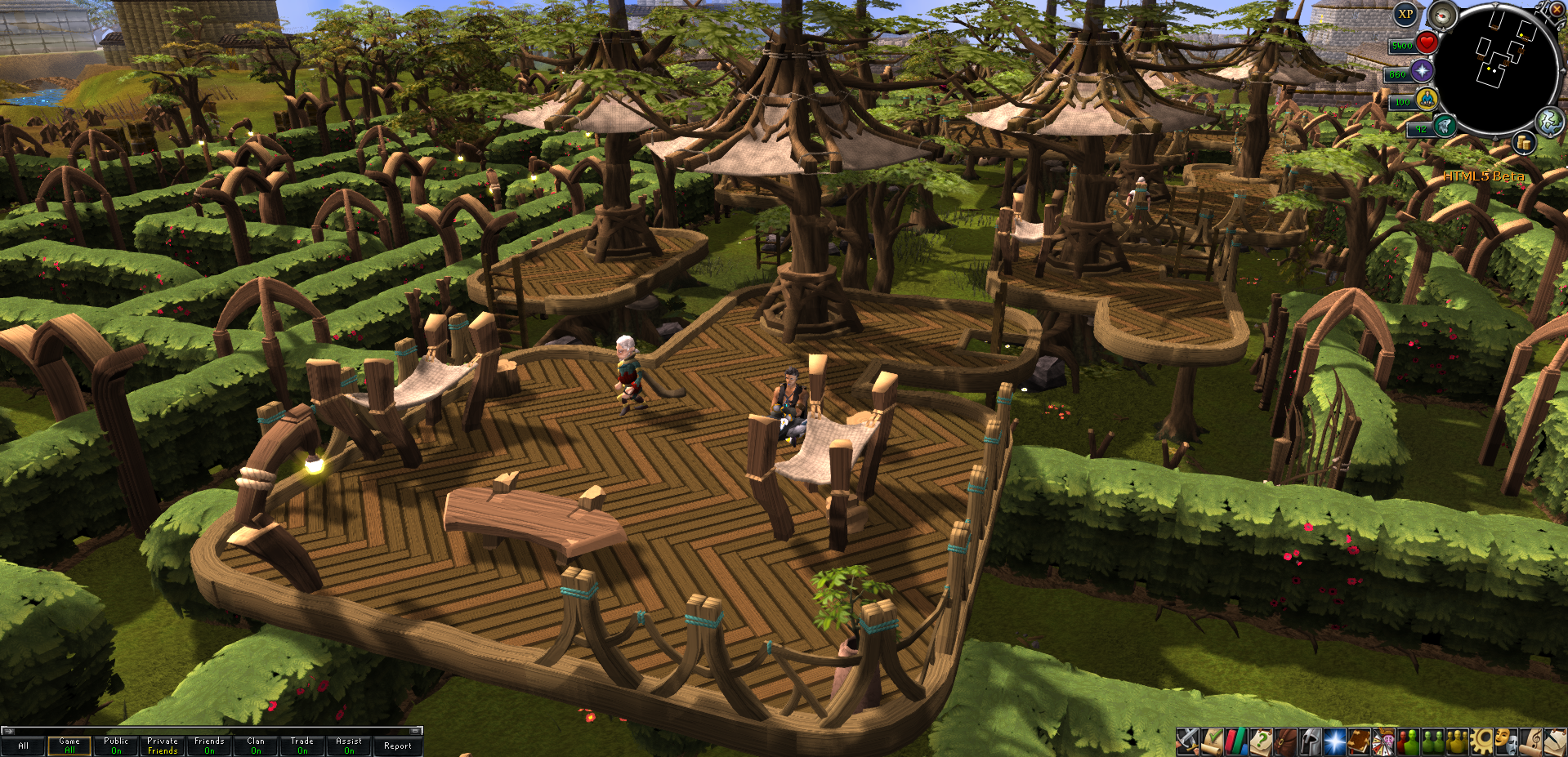 Runescape (HTML5) Tree Gnome Village by Jayzuryonime on