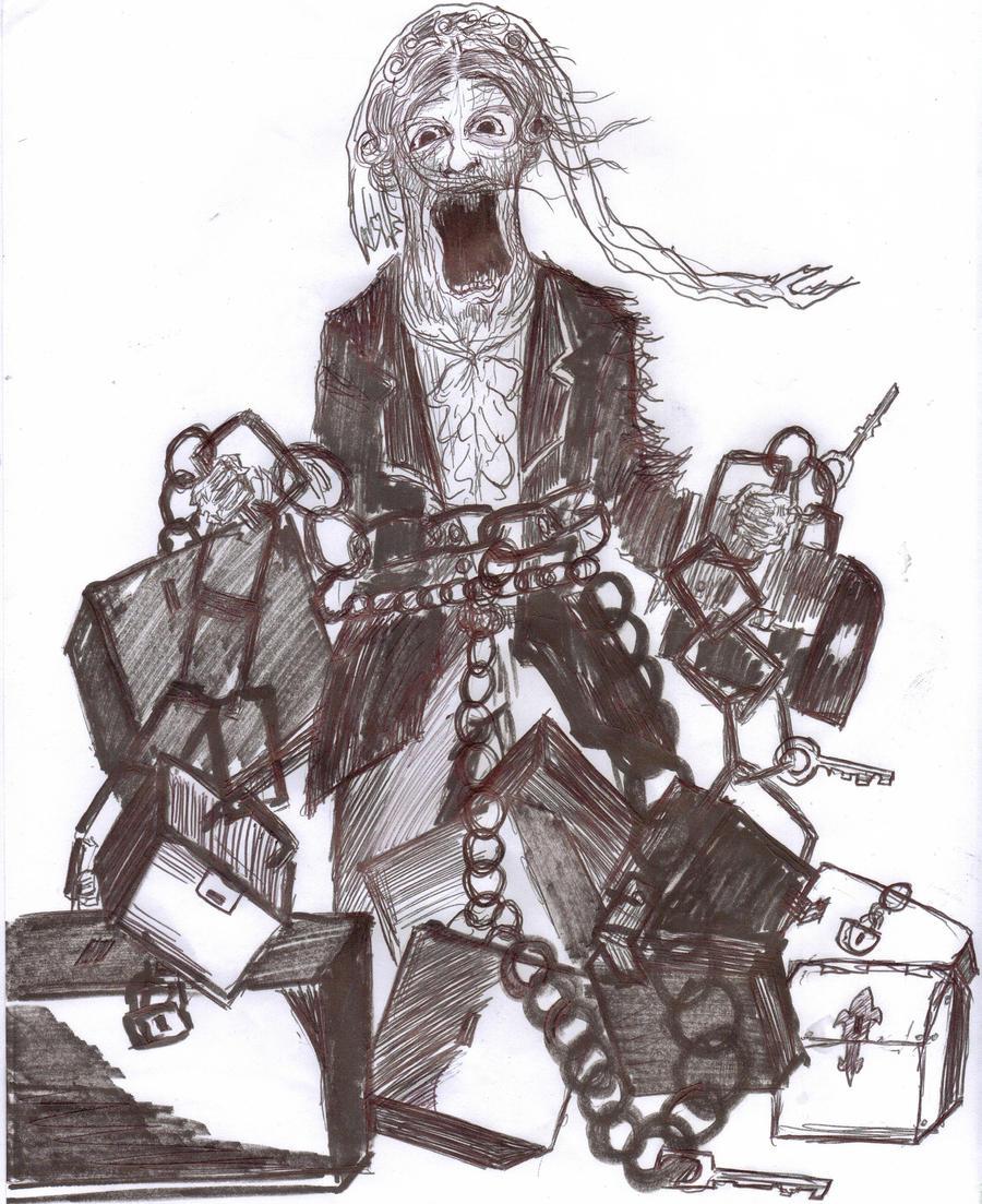 Original Sketch, Jacob Marley By Johnfboslet2001 On DeviantArt