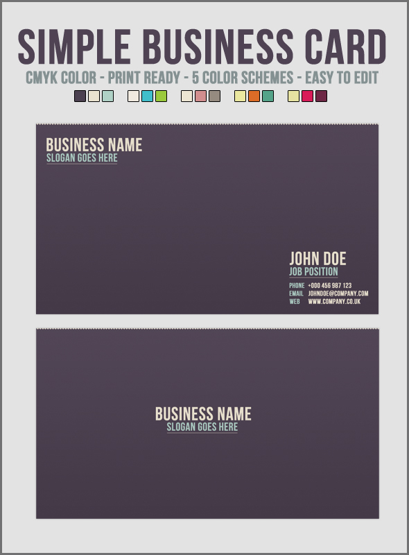 Simple business card by ditch designs on deviantart for Simple business card designs