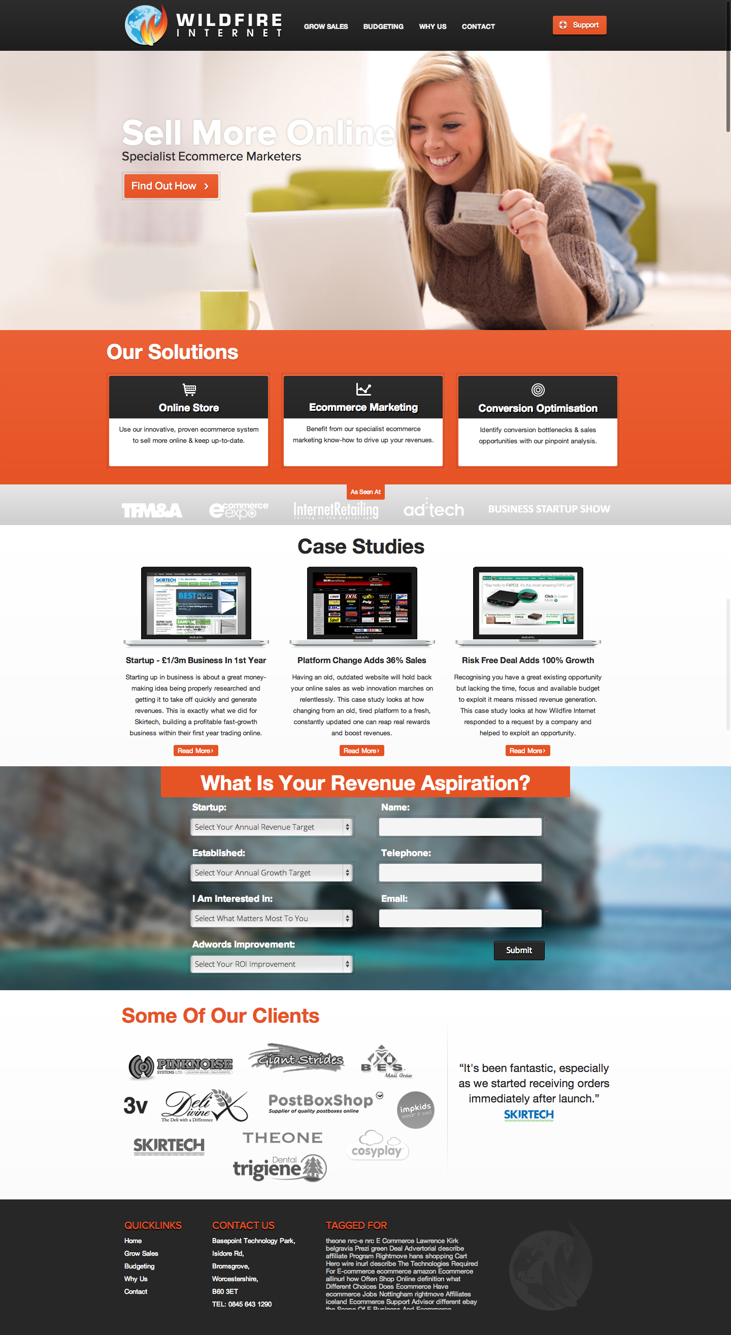 Company website redesign by ditch-designs