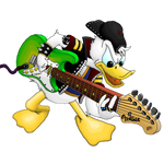 Donald Duck Guitarist