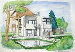 Schroder House - 3D aquarelle