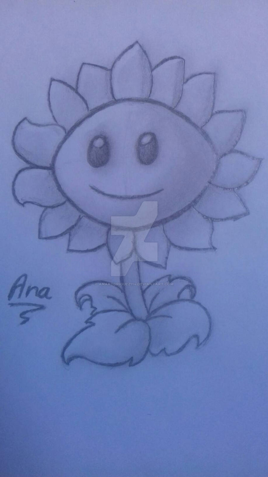 Girasol sombreado - Plants vs Zombies by AnaRodriguez114