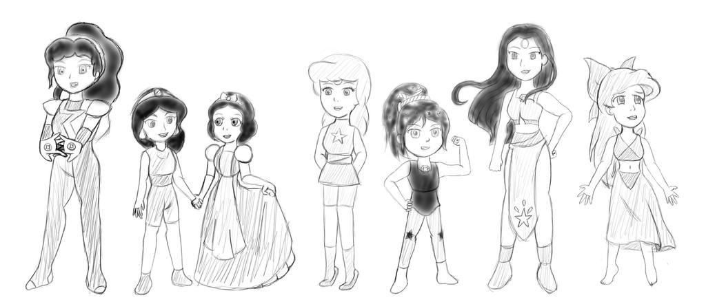 Disney Gem's by SilverAngle