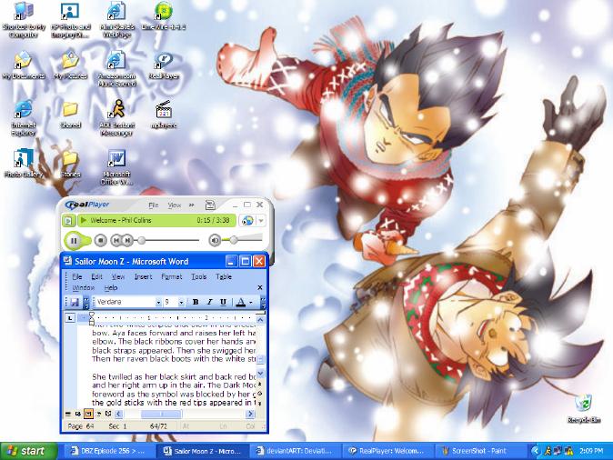 Winter Desktop by SilverAngle