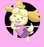 Pink Isabelle Smash Bros by Redjiggs