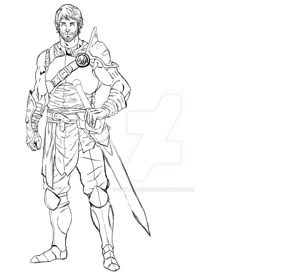 Line Drawing Knight : Knight lineart by shinjistrikes on deviantart