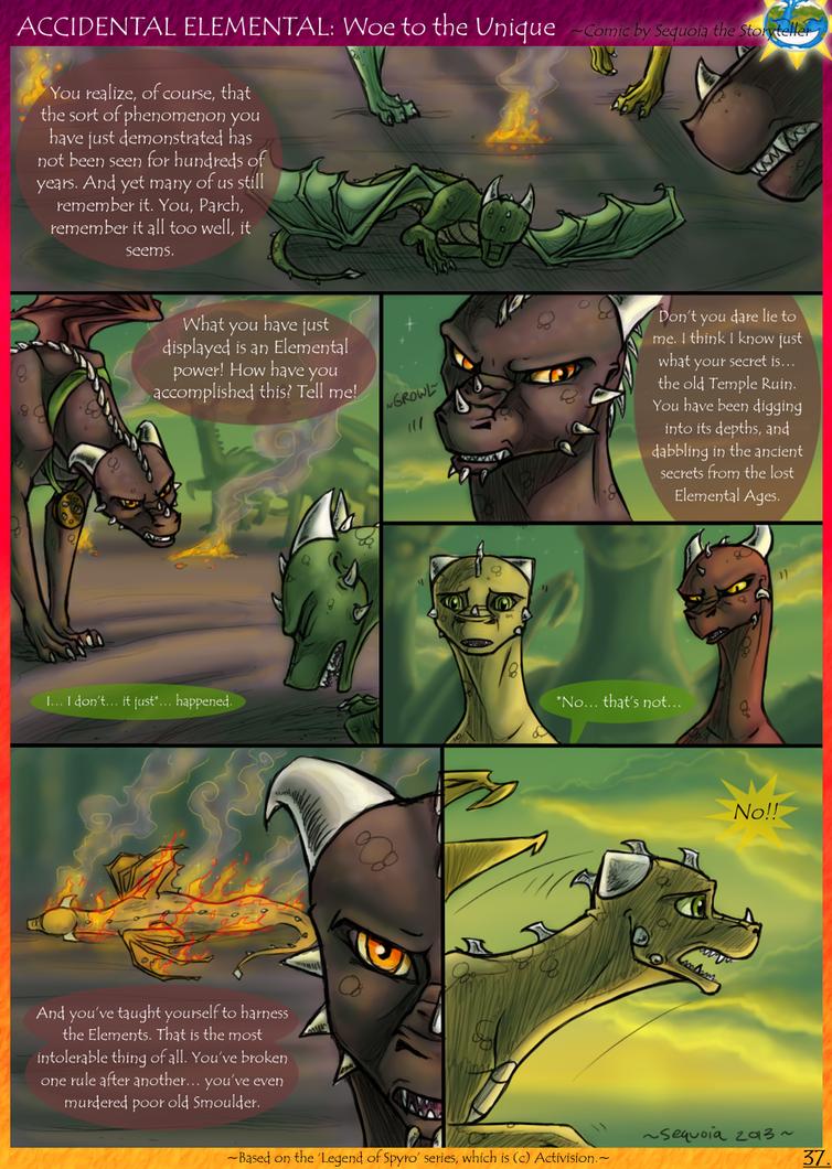 Accidental Elemental: Woe to the Unique, pg 15 by SekoiyaStoryteller