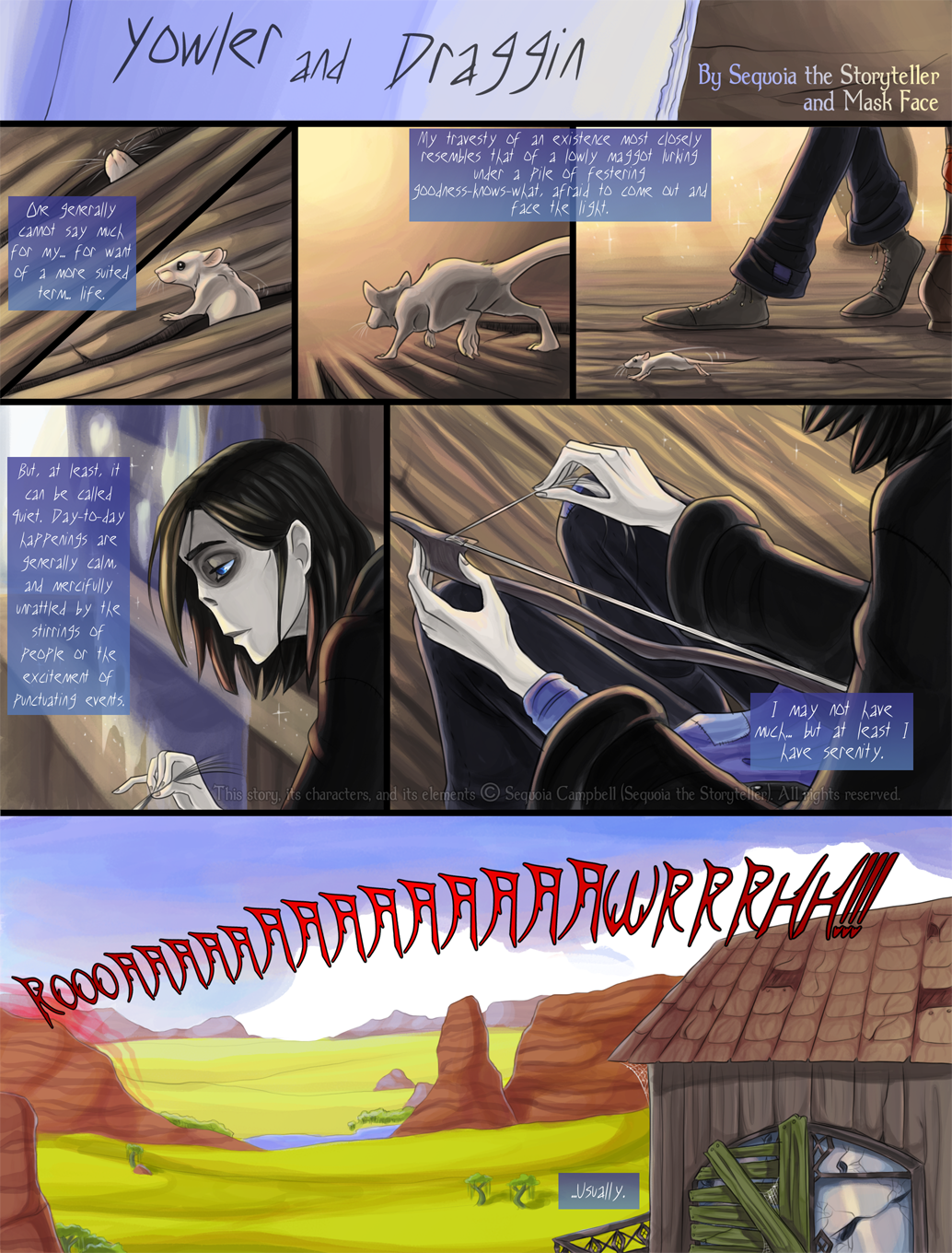 Yowler and Draggin, page 1
