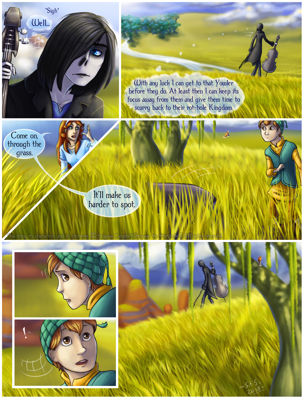 Yowler and Draggin, page 15 by SekoiyaStoryteller
