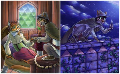 Catnipzul illustrations 1-2 by SekoiyaStoryteller