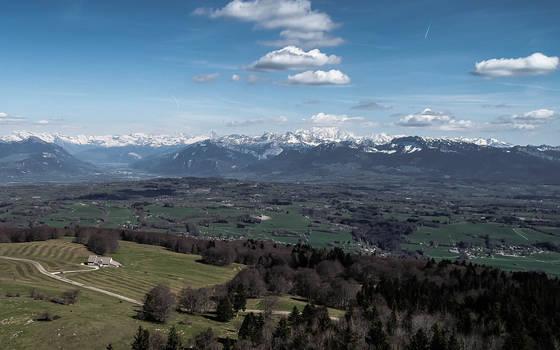 Mont Blanc vue du Saleve