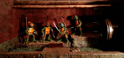 Teenage Mutant Ninja Turtles Sewer Diorama by ivanivanov9207