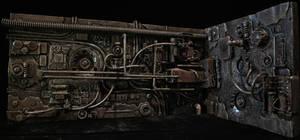 Predator Mechanical Wall Diorama Part 2