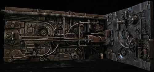 Predator Mechanical Wall Diorama Part 2 by ivanivanov9207