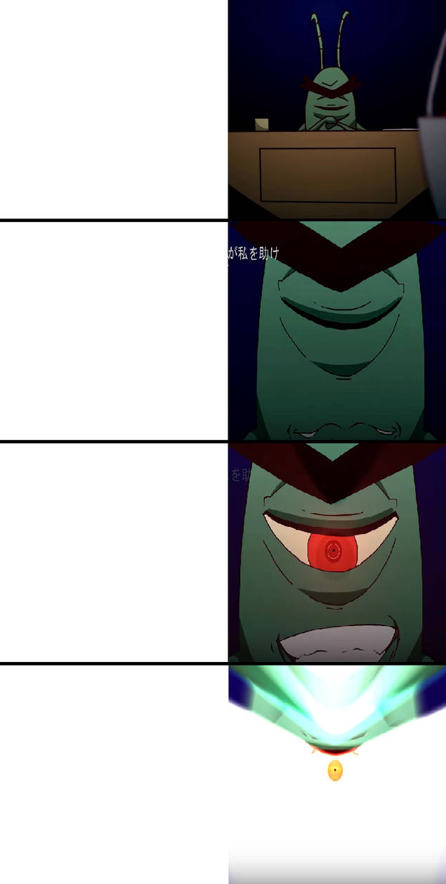 Meme Template: Anime Plankton by Ocxin on DeviantArt
