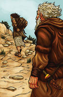 Abraham and Isaac by eikonik