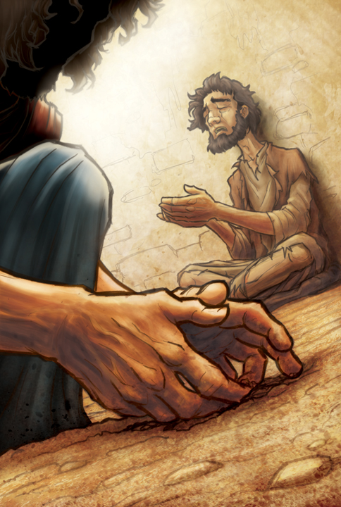 Jesus Heals a Blind Man by eikonik on DeviantArt