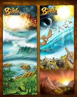 Bible Stories Comic Strips - Genesis 1 by eikonik