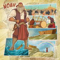 Bible Super Heroes: Noah by eikonik