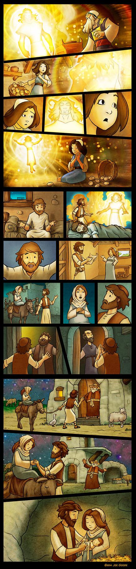 Mary and Joseph by eikonik