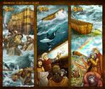 Bible Stories Comic Strips - Genesis 7-8 Noah p4-6