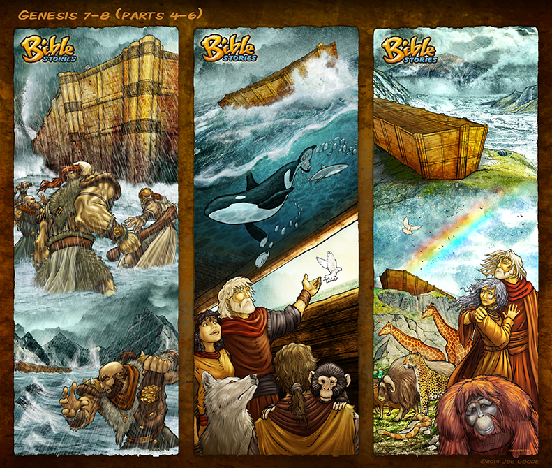 Bible Stories Comic Strips Genesis 7 8 Noah P4 6 By