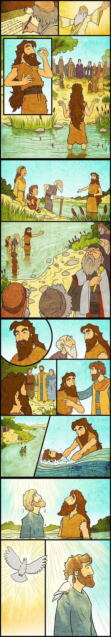 John the Baptizer and Jesus by eikonik