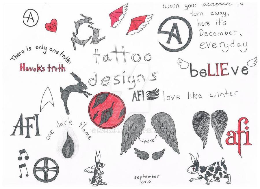 Afi Sing The Sorrow Tattoo