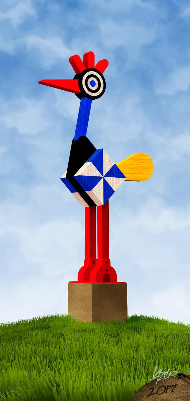 bird sculpture by LazurURH