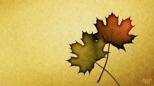 leaf wallpaper 2 by LazurURH