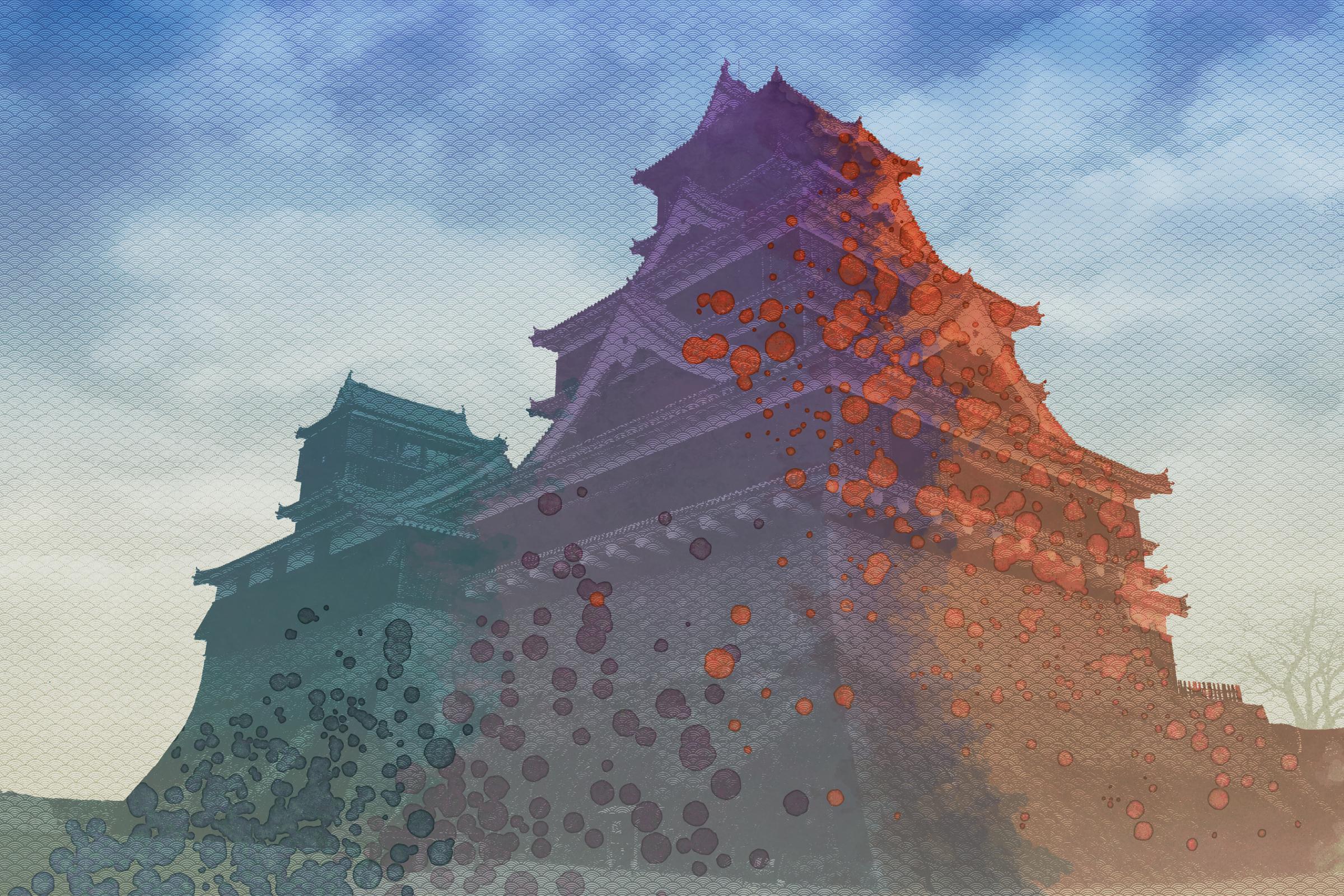 Japanese castle by LazurURH