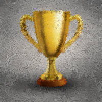 Trophy made of scissors