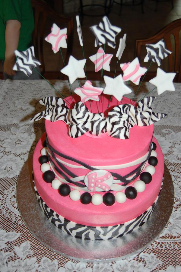 Pink Zebra Teen Cake By Iamtoyouextendtonone On Deviantart