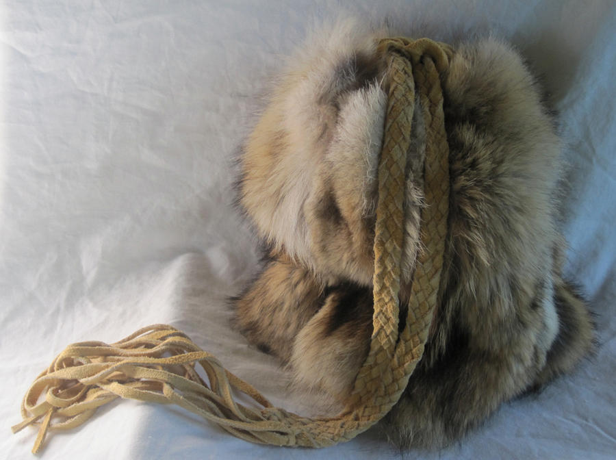Roadkilled Coyote Fur Pouch by TarpanBeadworks