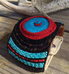 Beaded Cuff With Horsehair Embroidery