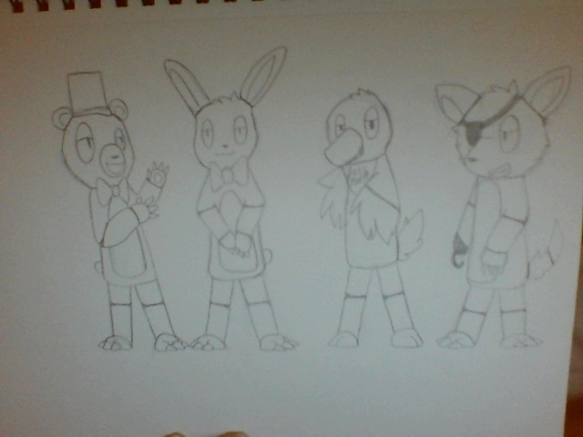 Five Nights At Freddy's Gang by HappilyInsane99