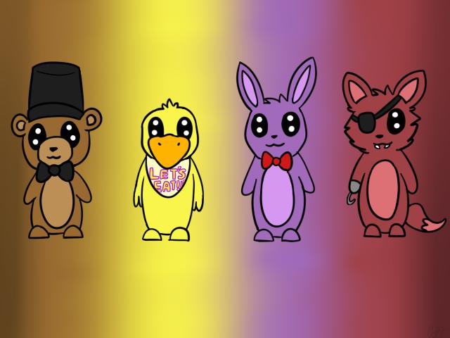 .:Chibi:. Five Nights At Freddy's by HappilyInsane99