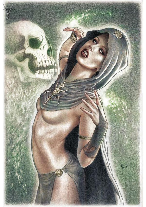 A MEIGA (The Witch - colored version) by jairolago