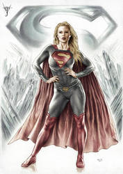 SUPERGIRL - THE WOMAN OF STEEL colored version
