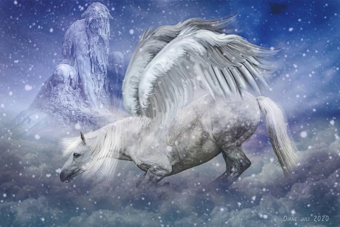 Kneeling Pegasus