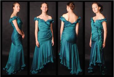 Teal evening dress 360