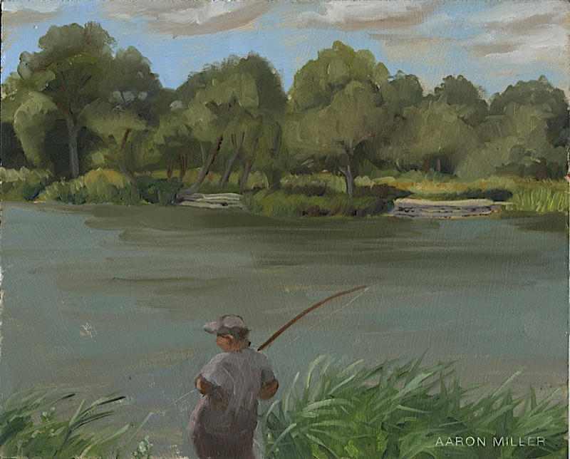 Fishing in Humboldt Park by AaronMiller