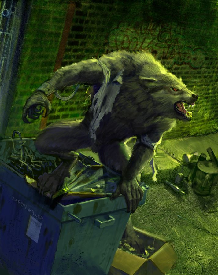 Glutton Werewolf- Nightfall by AaronMiller
