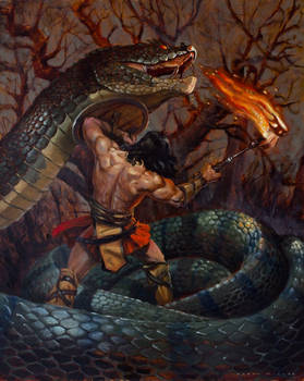 Conan and the Serpent